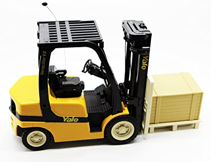 Amazon com: 1/14 R/C Remote Control Forklift Toy Truck