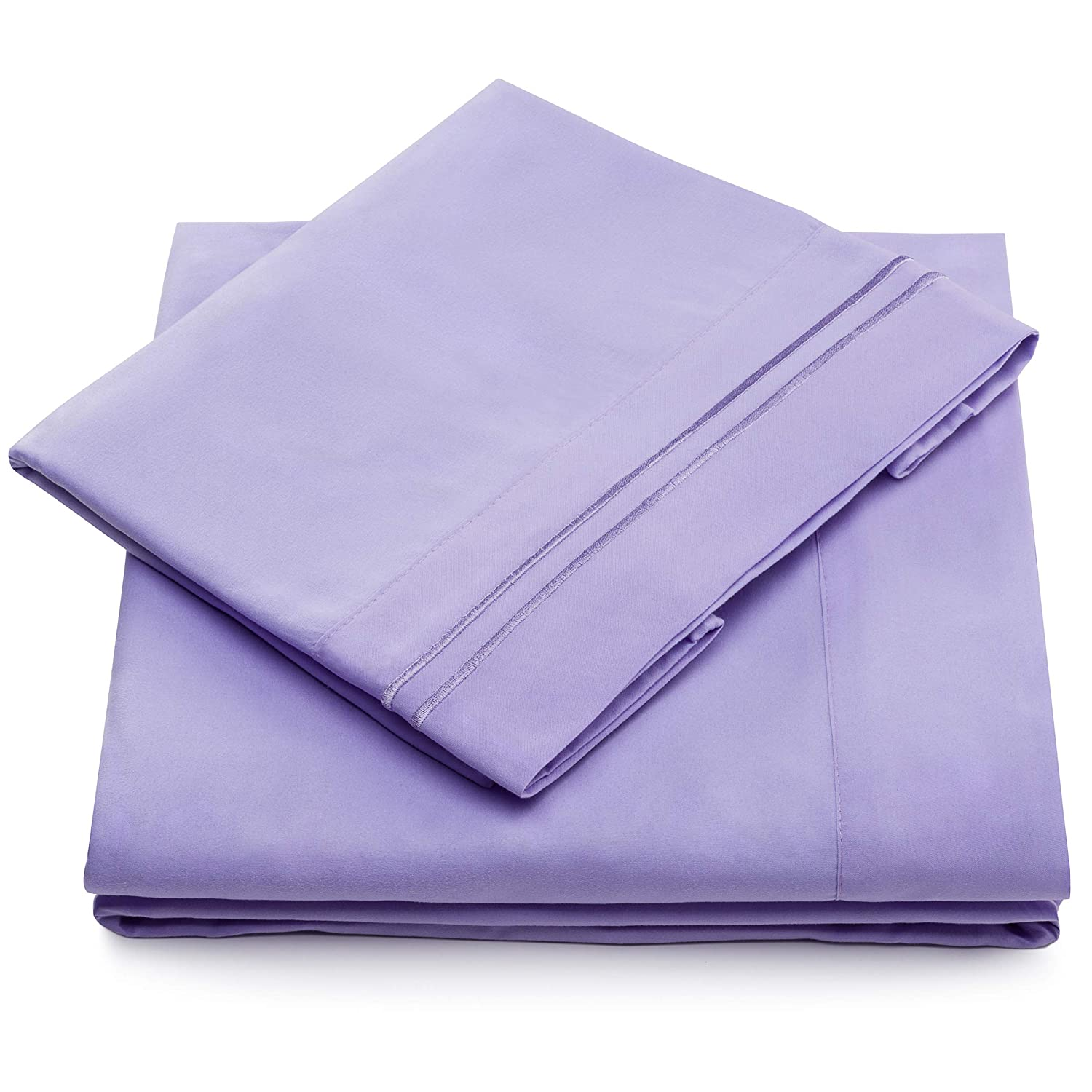 Twin XL Size Bed Sheets - Lavender Twin Extra Long Bedding Set - Deep Pocket - Ultra Soft Luxury Hotel Sheets- Hypoallergenic - Cool & Breathable - Wrinkle, Stain, Fade Resistant - 3 Piece