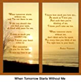 """Pet Lover Remembrance Gift, """"When Tomorrow Starts"""