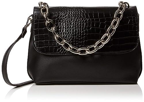 New Look Womens Carys Chunky Chain Cross-Body Bag Black (Black) 29ec36f917860