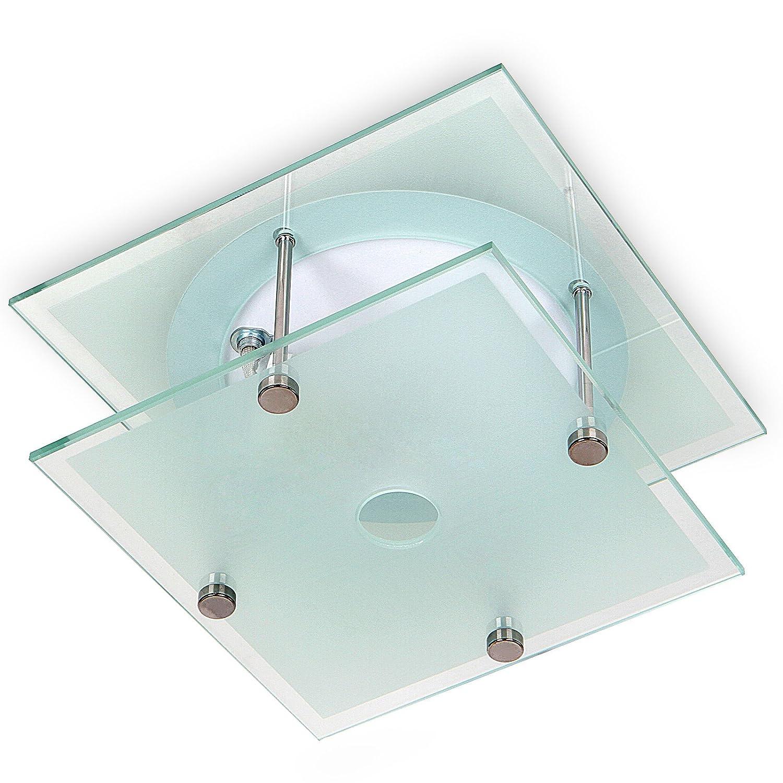 Jago Badezimmer Deckenleuchte Metall weiß quadratisch Flush Mount Anhänger Lampe 1x max. 40W