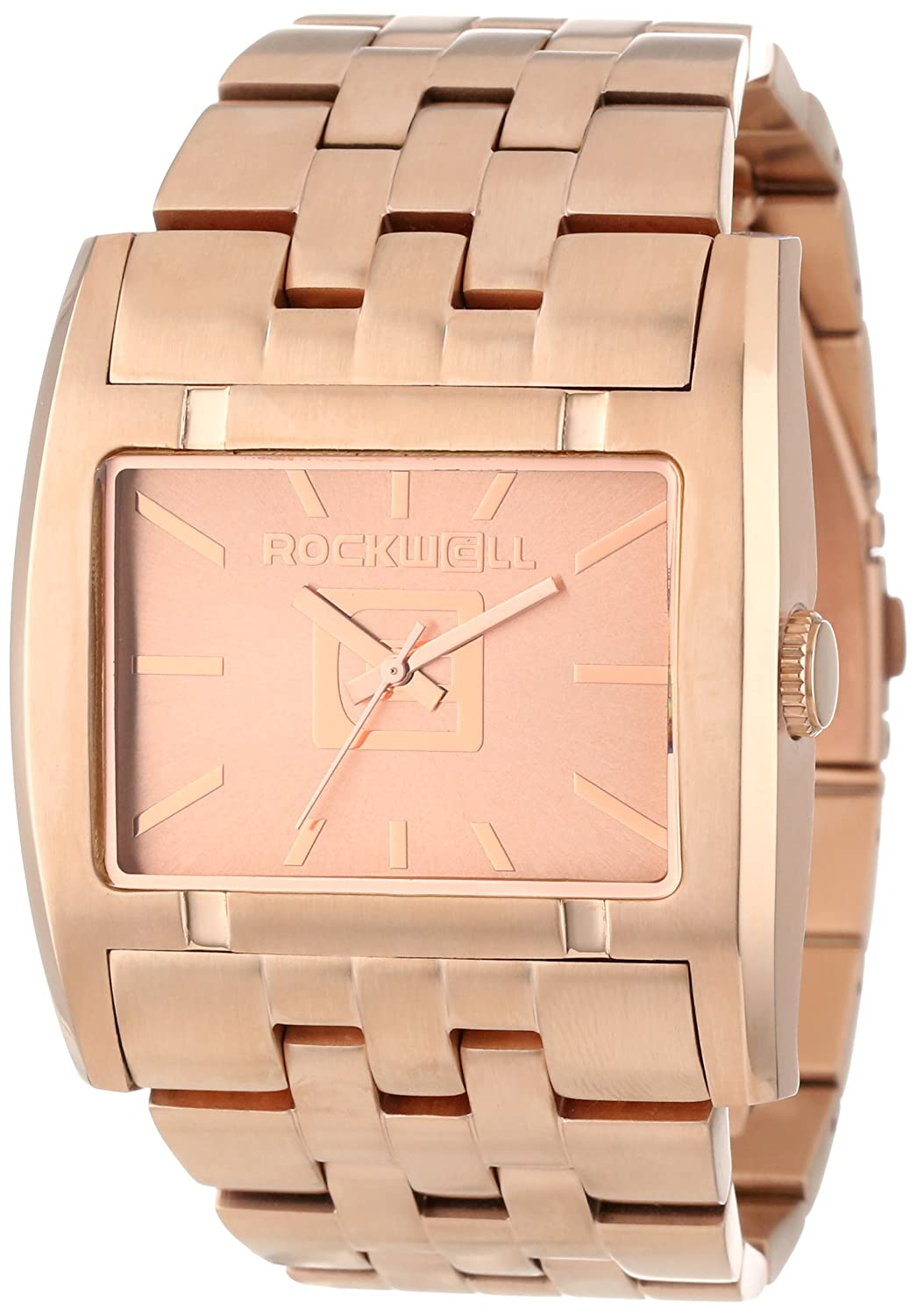 Rockwell Time Unisex AP113 Apostle Rose Gold-Plated Stainless Steel Armbanduhr