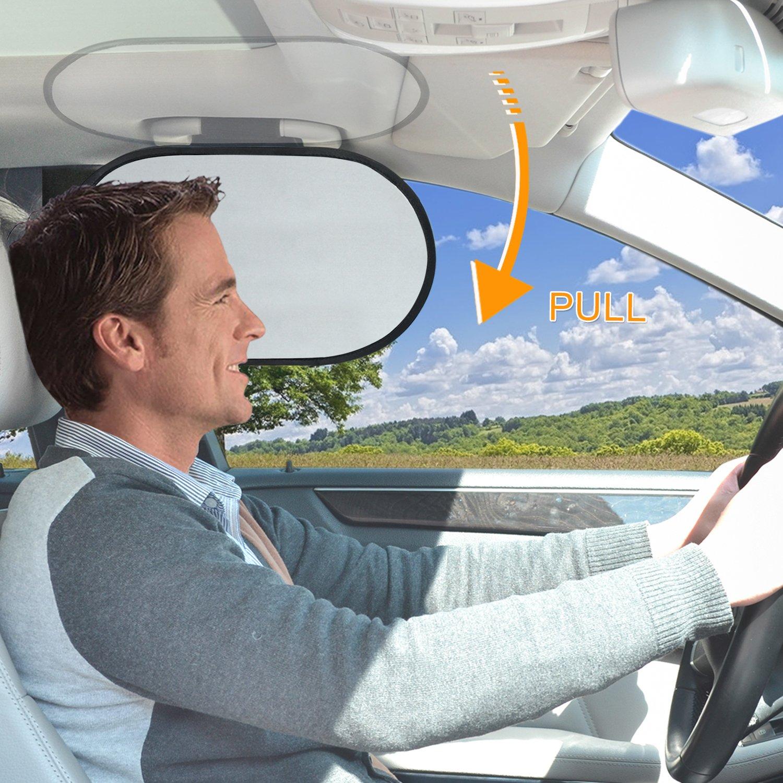 WANPOOL Car Interior Roof Handle Sunshade & Sun Blocker for Driver WP-3HANDLESHADE