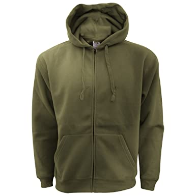 7ce69a7bbcc Fruit of the Loom Mens Zip Through Hooded Sweatshirt Hoodie (XXL) (Classic