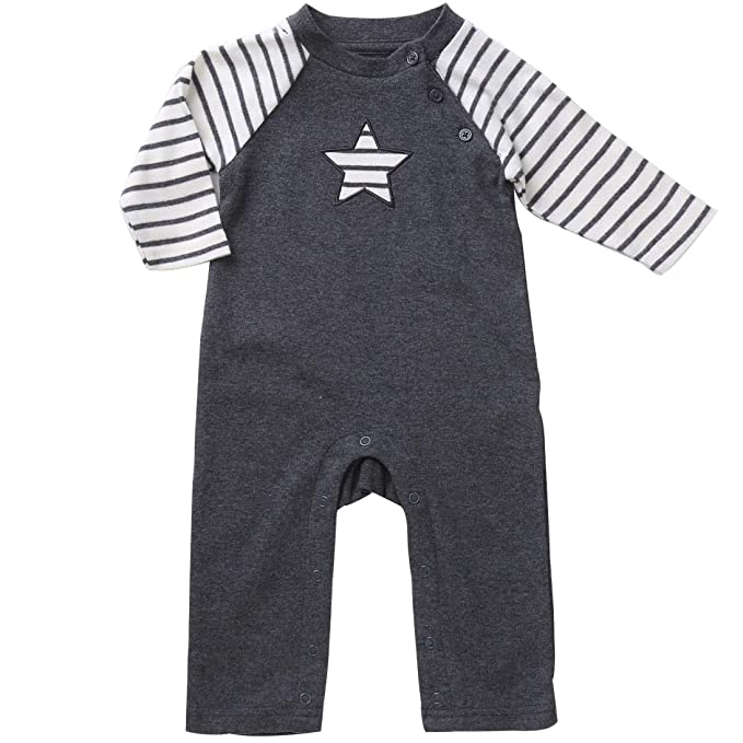8fb434db8 Sleep and Play Long-Sleeve Romper Footless Pajamas Unisex Jumpsuit Sleepers  3-6