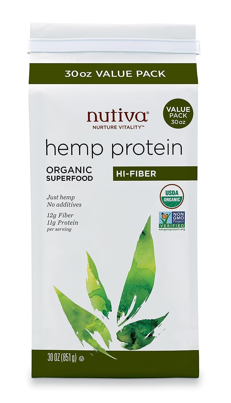 Nutiva Organic Hemp Protein Hi-Fiber 30 oz  B001JU6BYE