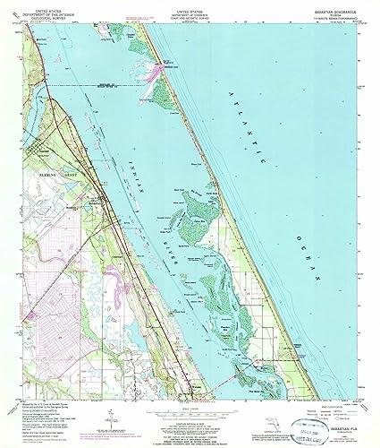 Map Of Sebastian Florida.Amazon Com Florida Maps 1949 Sebastian Fl Usgs Historical