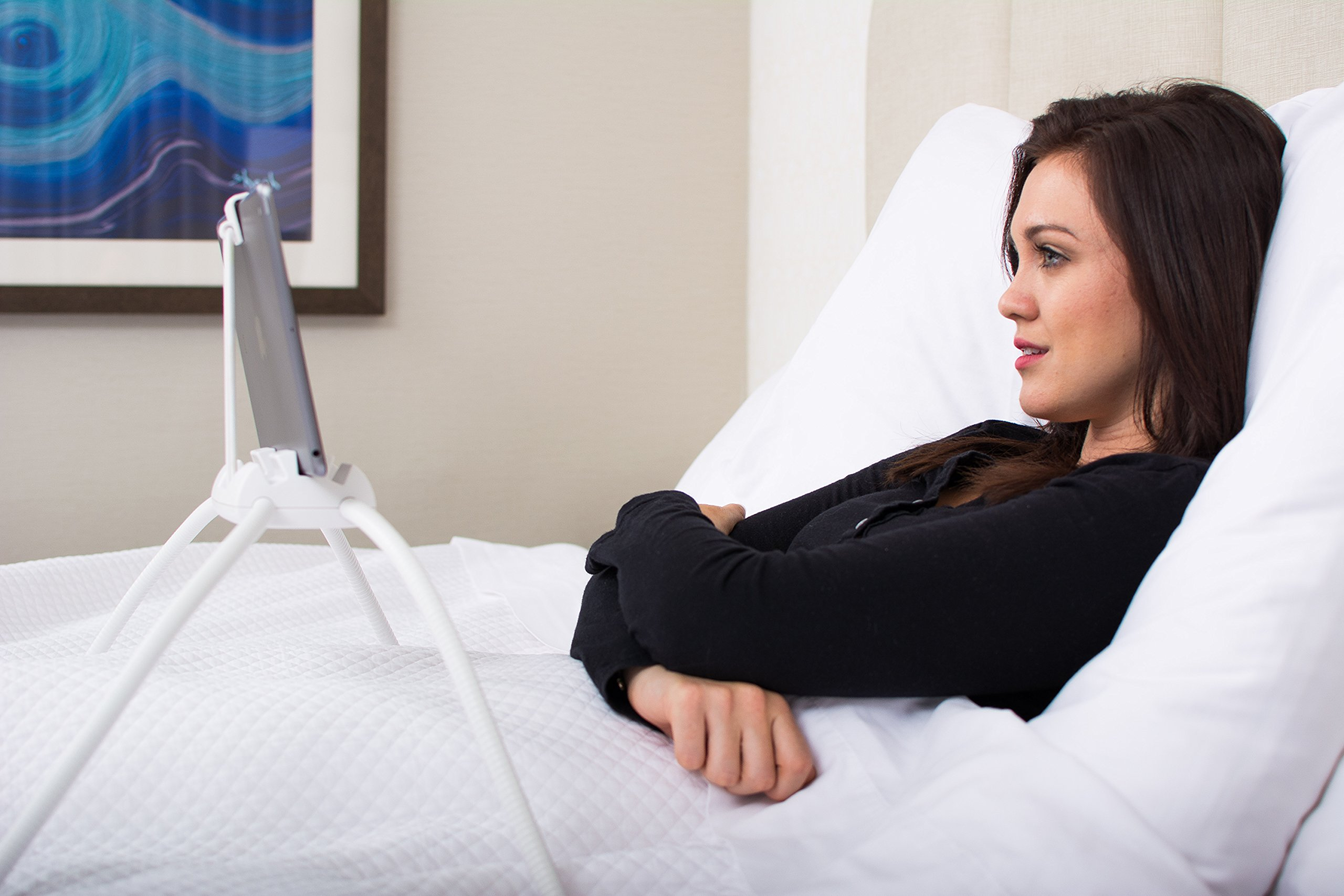 Tablift Tablet Stand (in White) for the Bed, Sofa, or Any Uneven Surface by nbryte (Image #3)