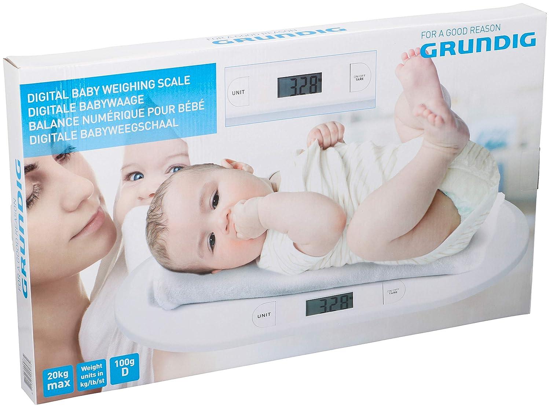 Grundig Baby Báscula Digital Lactancia - Báscula Animales de kinderwaage Digital con Función de tara: Amazon.es: Hogar