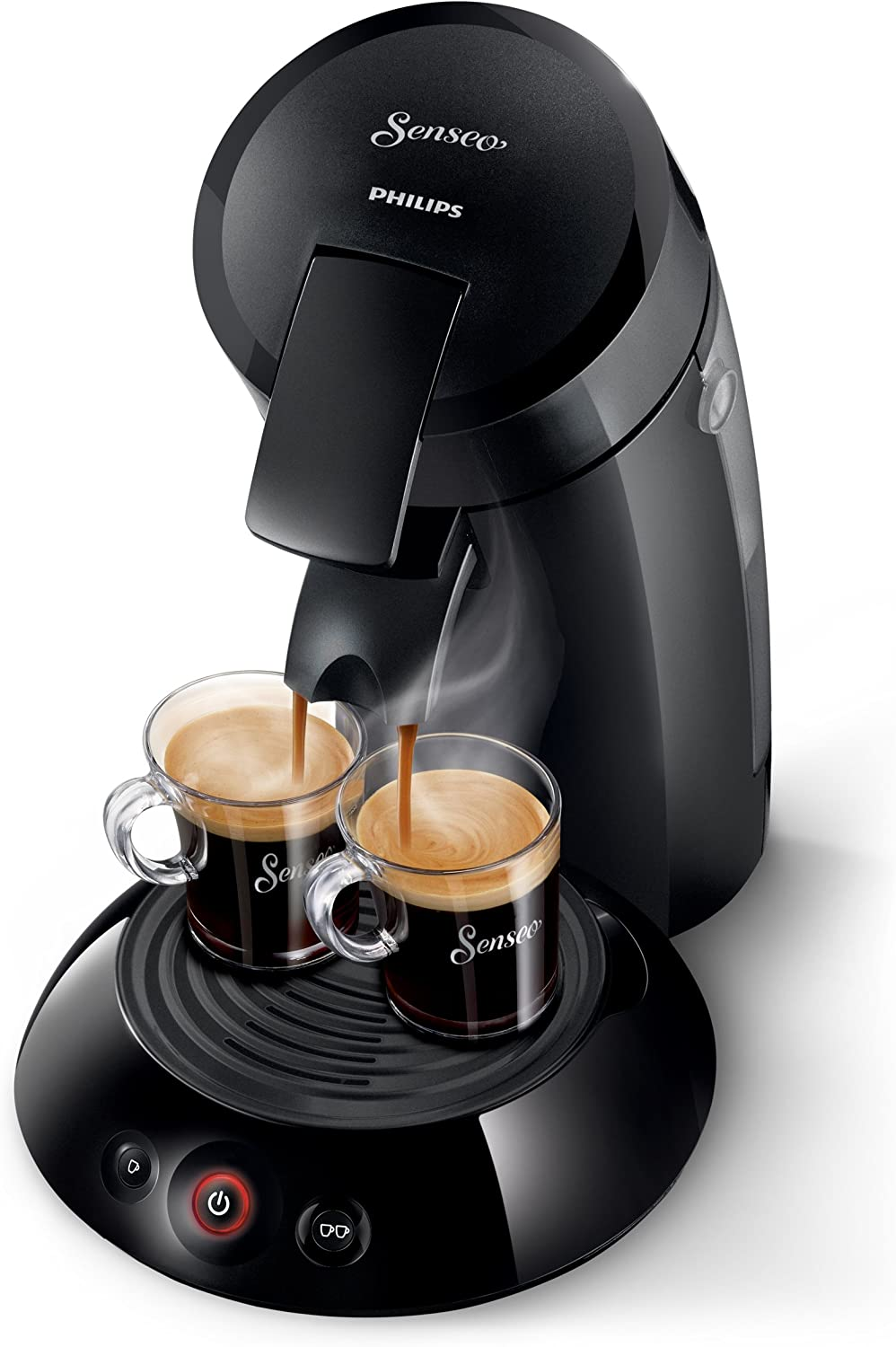 Philips Senseo - Cafetera de cápsulas, 1450 W, color negro: Amazon ...