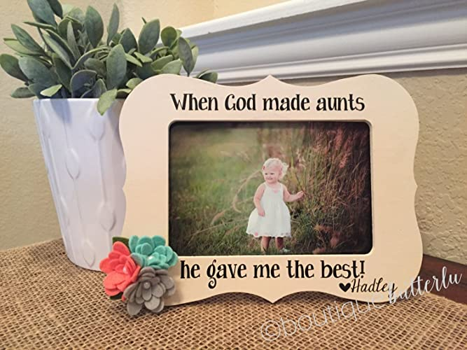 Amazon.com: Gift for Aunt Aunt Picture Frame Beautiful Handmade Aunt ...