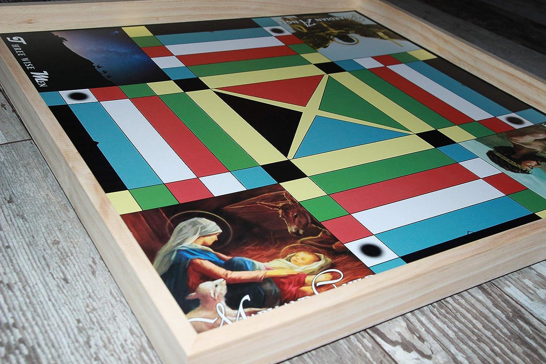 Jamaican Ludo クリスチャニティエディション 2フィート x 2フィート シングルサイドファミリーゲームボード ゲームピース ダイス マルチプレイヤーゲーム ナイト B07HMLLRLM