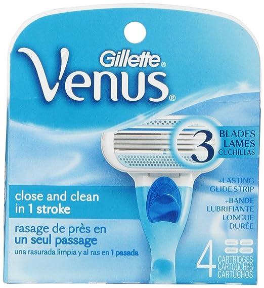 Gillette Venus Original Women's Razor Blade Refills 4 Count $4.42 at  amazon.com online deal
