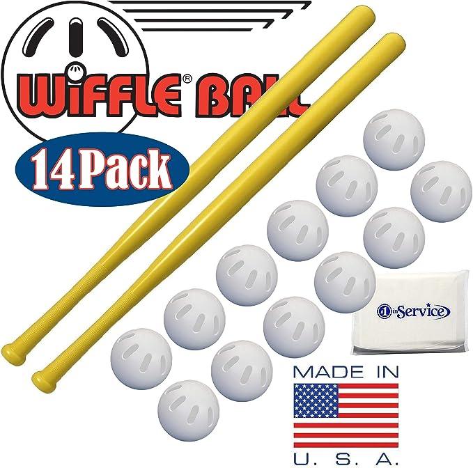 WIFFLE Bates de plástico 32 Pulgadas, Paquete de 2, Pelotas de ...