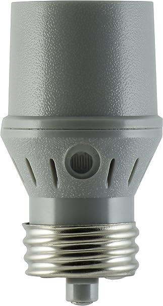 GE Indoor Light Sensing Socket, Photo Sensor On/Off 18256