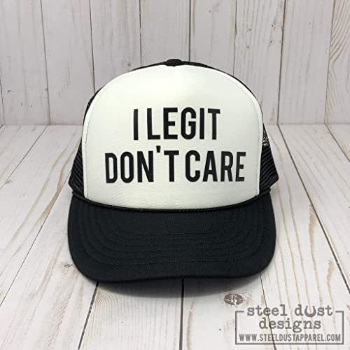06c29bf06a152 Amazon.com  Kids Trucker Hat I Legit Dont Care Boys Girls Trucker Hat Cool  Trucker Hat for Kids  Handmade