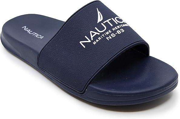 Amazon.com | Nautica Men's Athletic Slide Comfort Sandal | Sport Sandals &  Slides