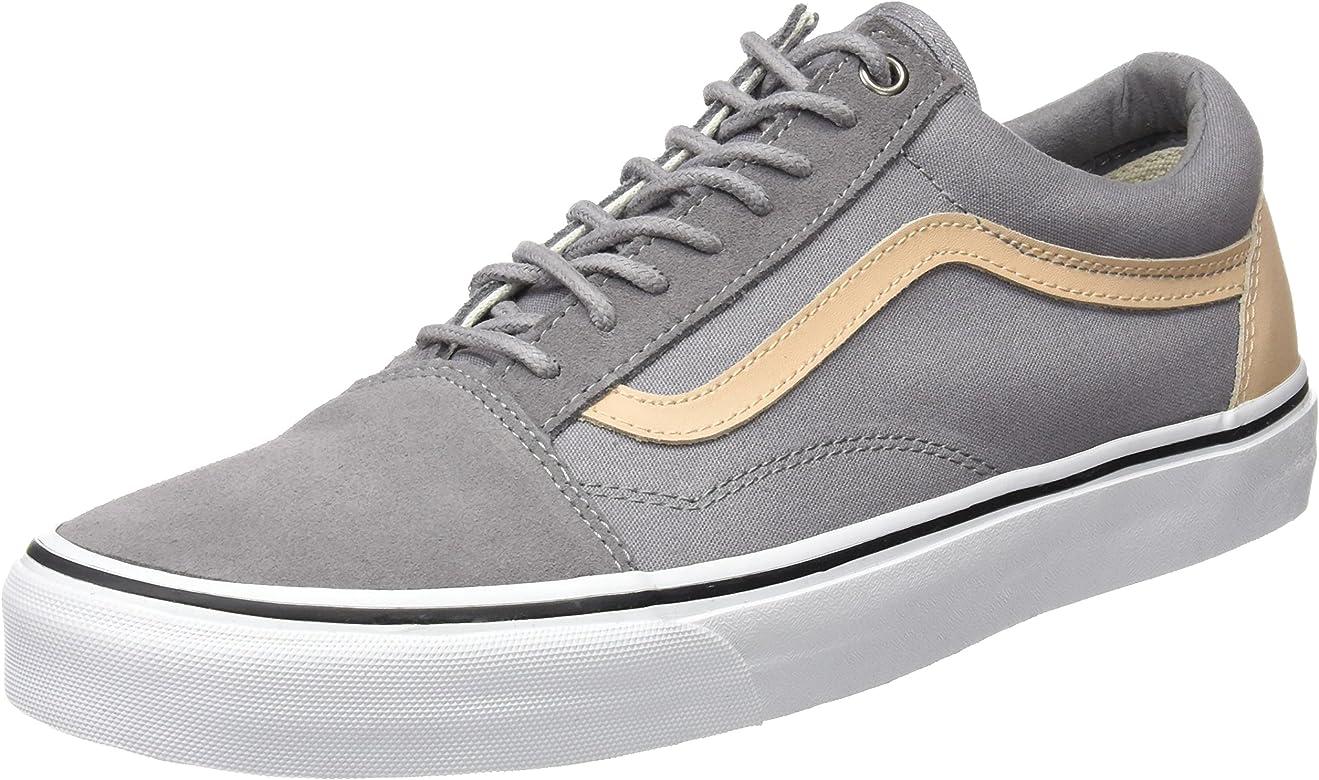 e717a62e Unisex-Adult Old Skool Shoes, Size: 8.5 D(M) US Mens / 10 B(M) US Womens,  Color: (Veggie Tan) Frost Gray/True White