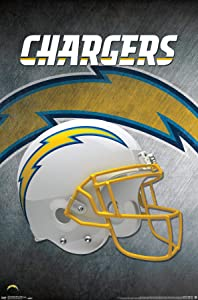 Trends International NFL Los Angeles Chargers - Helmet 19 Wall Poster, 14.725