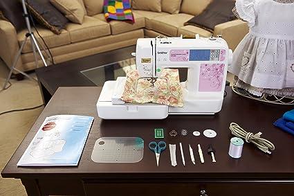 Brother PE500 - Máquina de Coser (Máquina de Coser automática, Rosa, Blanco, Bordado, Costura, LCD, Tocar, 400 RPM): Amazon.es: Hogar