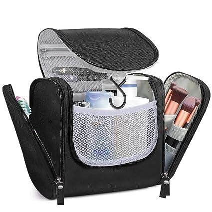 Beauty Case da Viaggio,Borsa da toilette, kit da viaggio organizer per trucco, bagno e doccia, Borsa impermeabile con supporti elastici per articoli