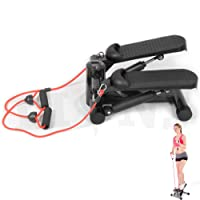 Aerobic Mini Stepper Leg Toner Toning Workout Low Impact Fitness Gym Machine LCD Display Shows Calories Burned, Workout Time etc