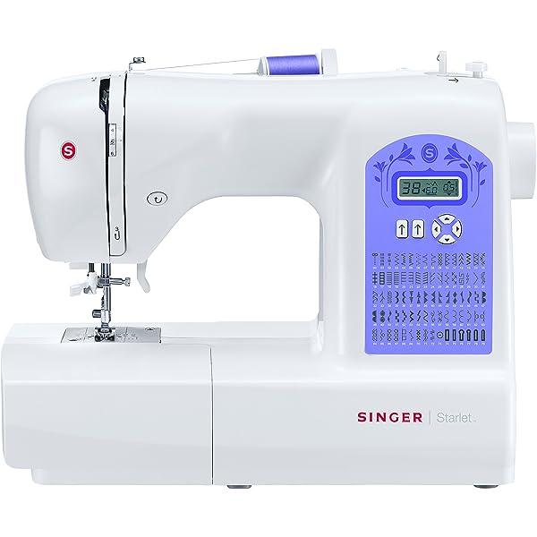 Singer Starlet 6660 - Máquina de Coser electrónica, 60 Puntadas, 120 V, Color Blanco: Amazon.es: Hogar