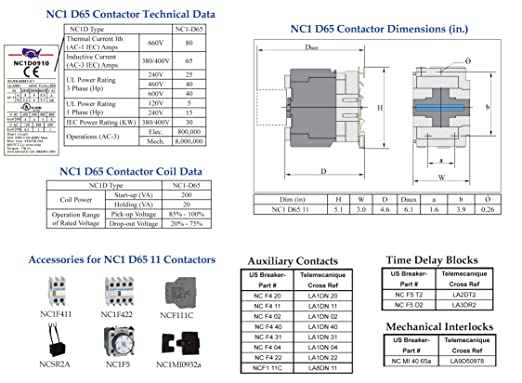 81572ekKegL._SX522_ amazon com telemecanique lc1d6511 b7 contactor (lc1 d65 11 24v telemecanique lc1 d6511 wiring diagram at creativeand.co