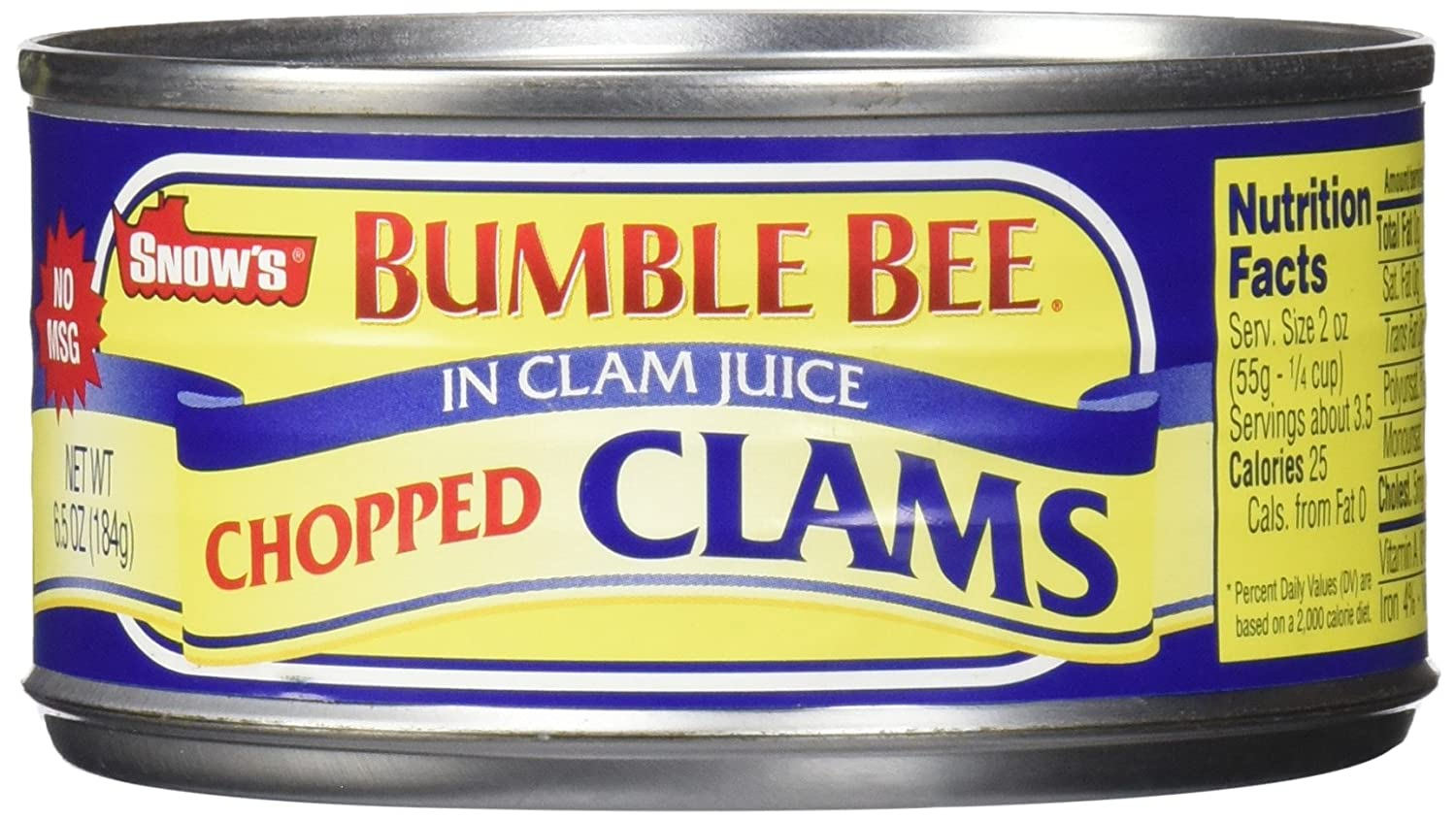 B004ZKXLXO Snow's by Bumble Bee Chopped Clams Juice, 6 Count 81572xO2BTOL