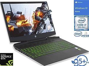 "HP Pavilion 15 (7ZZ57UA) Gaming Laptop, 15.6"" FHD Display, Intel Core i7-9750H Upto 4.5GHz, 16GB RAM, 256GB NVMe SSD + 1TB HDD, GTX 1660 Ti, HDMI, Thunderbolt, Wi-Fi, Bluetooth, Windows 10 Home"
