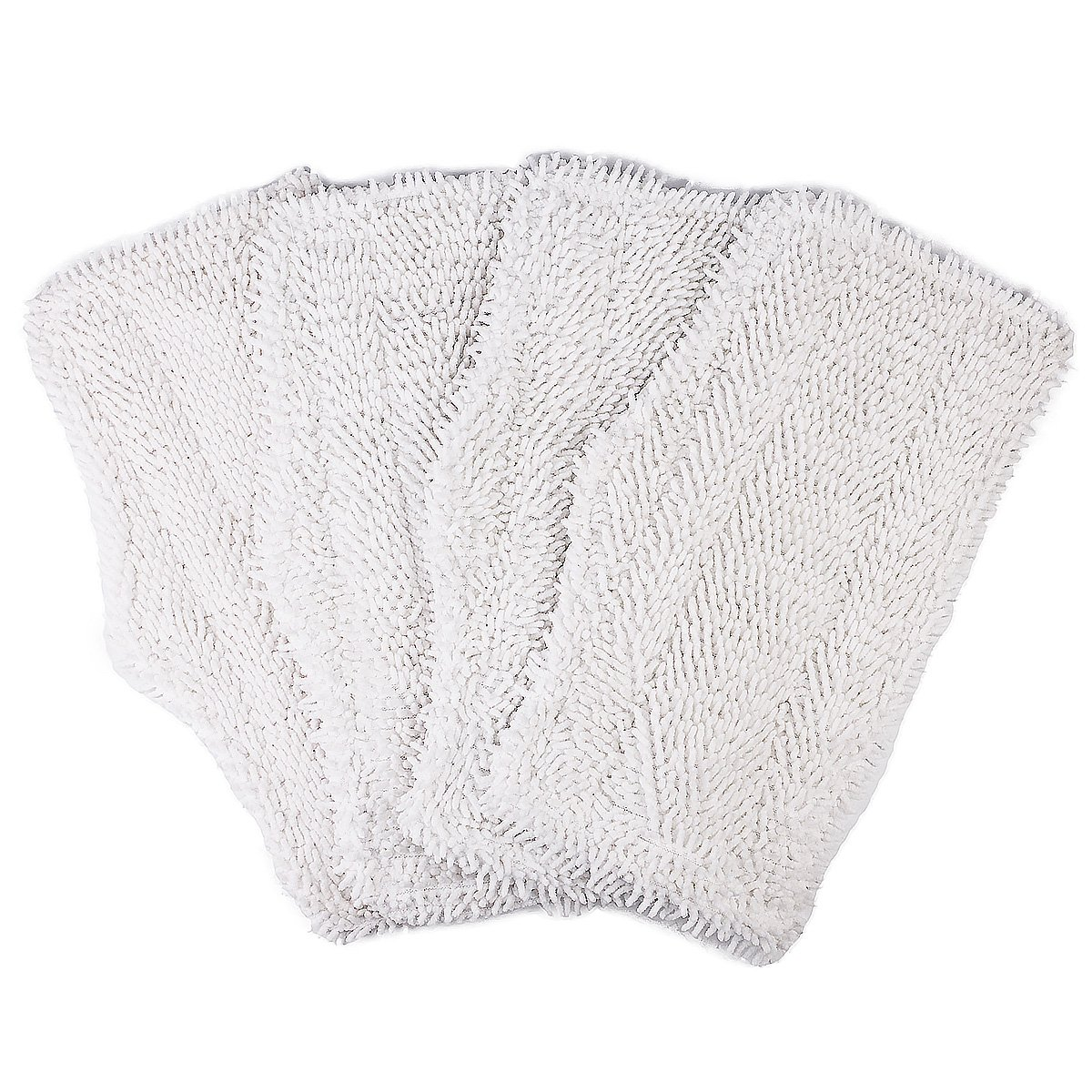Flammi 4 Pack Replacement Washable Cleaning Pads Fits Shark Steam & Spray Mop SK410, SK435CO, SK460, SK140, SK141, S3101, S3250, S3251