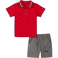 Calvin Klein Boys 2 Pieces Polo Shorts Set