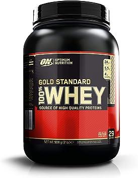 Optimum Nutrition Gold Standard 100% Whey Proteína en Polvo, Rocky Road (Chocolate, nubes y almendras) - 908 g