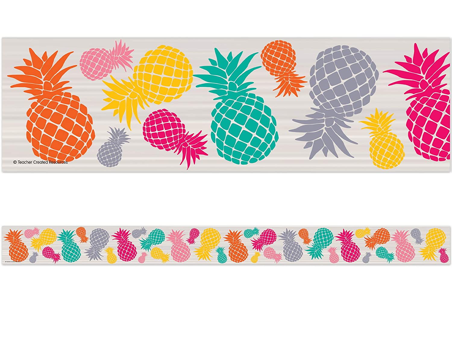 Teacher Created Resources 2157 Tropical Punch Pineapples Straight Border Trim