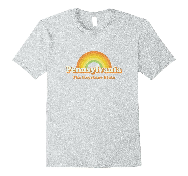 Retro Pennsylvania PA T Shirt Vintage 70s Rainbow Tee Design-ah my shirt  one gift