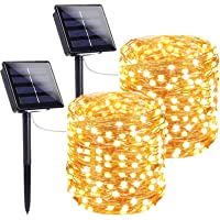 Extra-Long Solar String Lights Outdoor, 2-Pack Each 72FT 200 LED Super Bright Solar Lights Outdoor, Waterproof Copper…