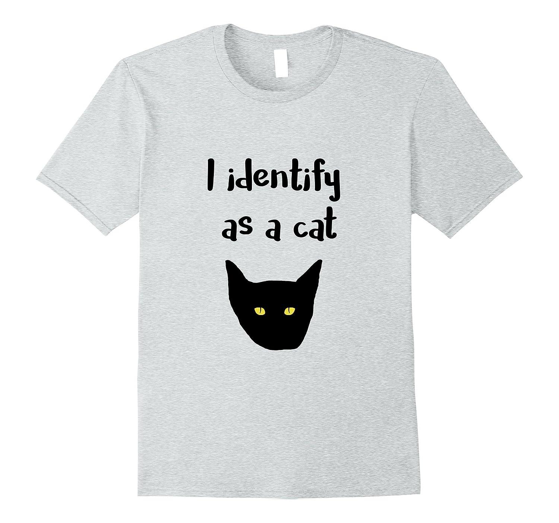 Awesome I identify as a Cat T-Shirt Men's & Wonen's Sizes-T-Shirt