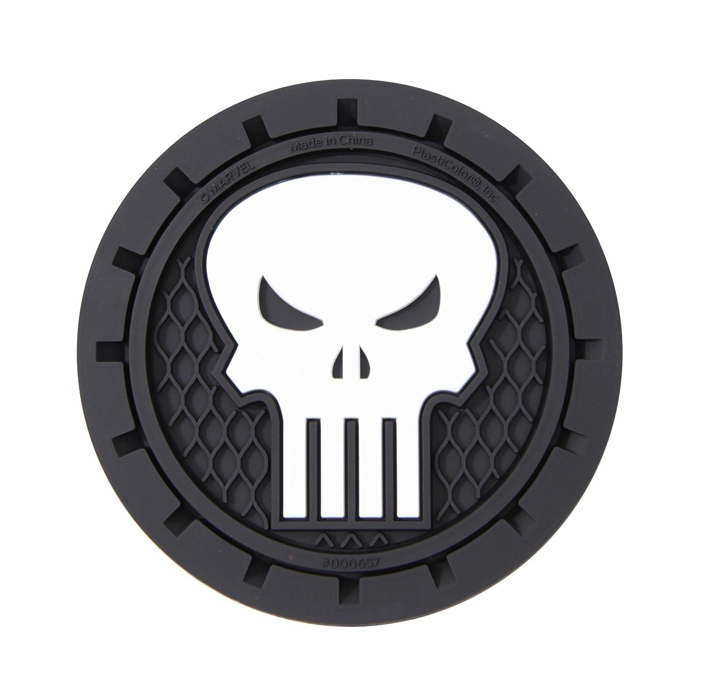 Plasticolor 000657R01 Marvel Punisher Cup Holder Coaster