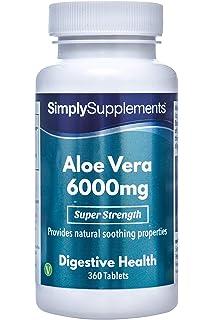Aloe Vera 6000 mg | Efectos calmantes para mejorar la digestión |Para un sistema digestivo
