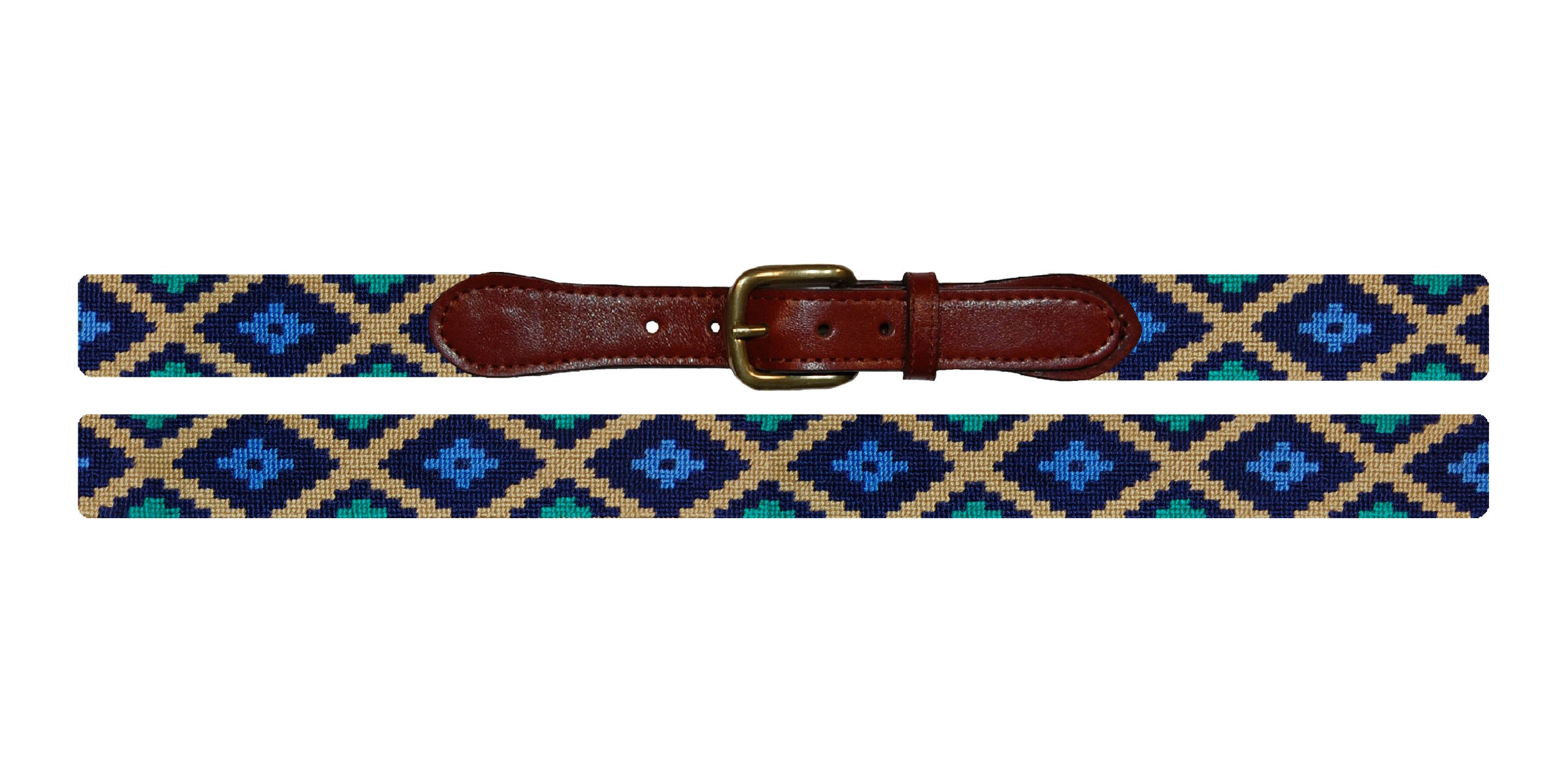 Smathers & Branson Gaucho Traditional Needlepoint Belt, Size 34 (B-214-34)