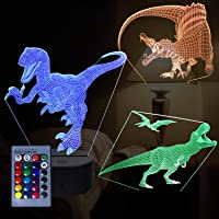 3D Dragon Night Light, lámpara de ilusión 3D