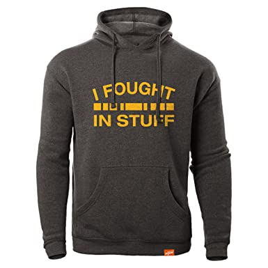 ed70bdcf Amazon.com: Inkfidel I Fought in Stuff Hoodie Army USMC Marine Veteran:  Clothing
