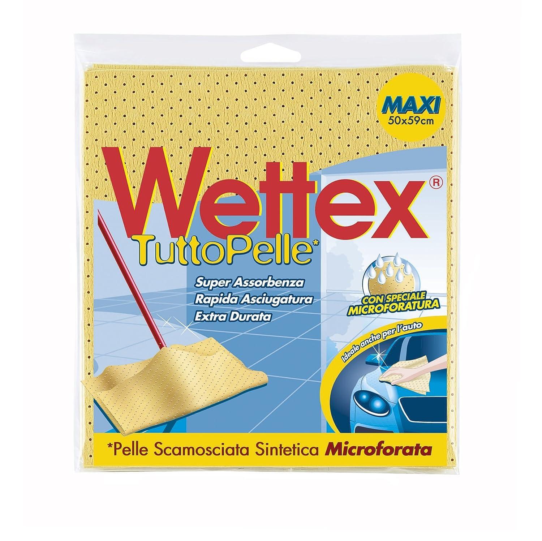 Wettex 126227 Panno Pavimenti Tuttopelle in Pelle Scamosciata Sintetica, Altro, 37.5x25.5x0.5 cm, 6 unità 6 unità