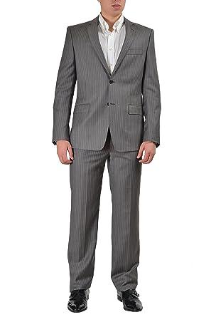 Amazon.com: Versace Collection Traje de lana dos botón de ...