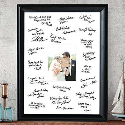 Amazon.com - Autograph Frame Signable Picture Frame Wedding Guest ...