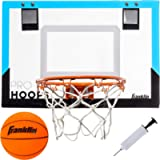 Franklin Sports Over The Door Basketball Hoop - Slam Dunk Approved - Shatter Resistant - Accessories Included