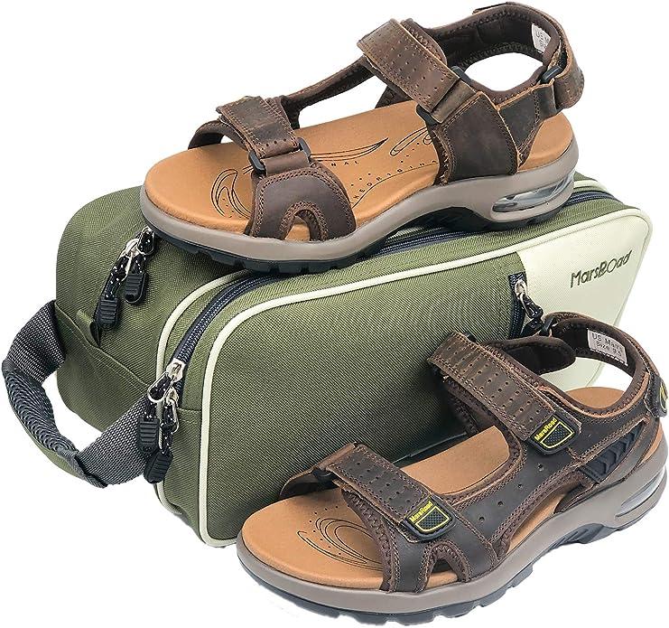 millenniumpaintingfl.com MarsRoad Mens Sandals Leather Open Toe ...