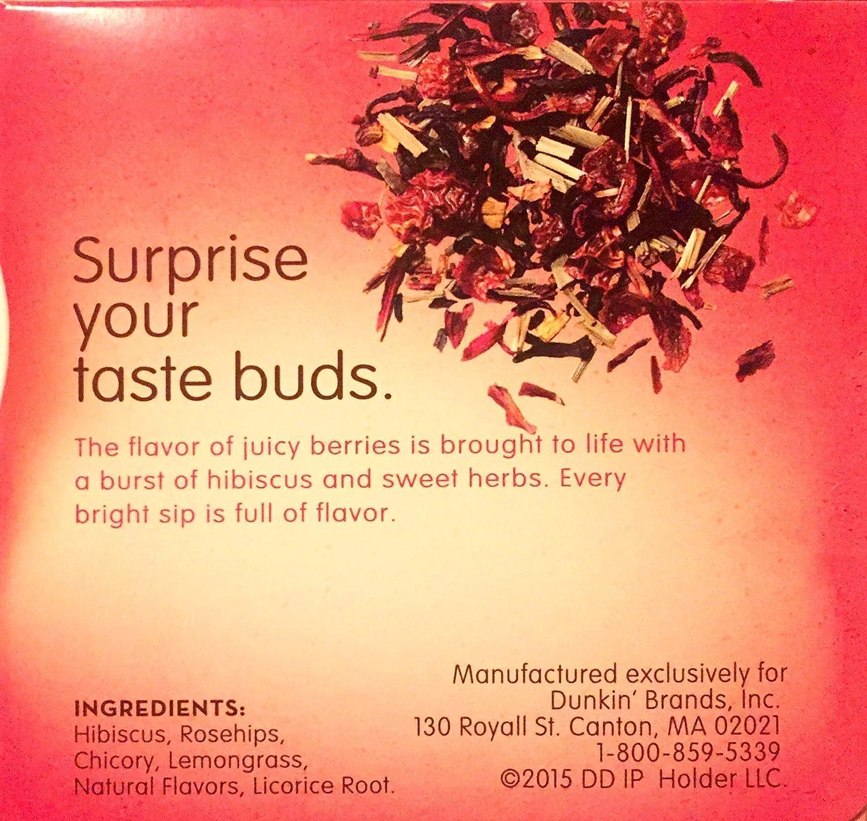 Amazoncom Dunkin Donut Hibiscus Kiss Tea 45 Tea Bags Kitchen Dining