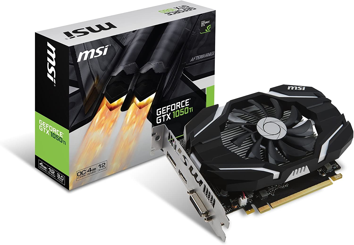 MSI Computer Video Card (GTX 1050 TI 4G OC)