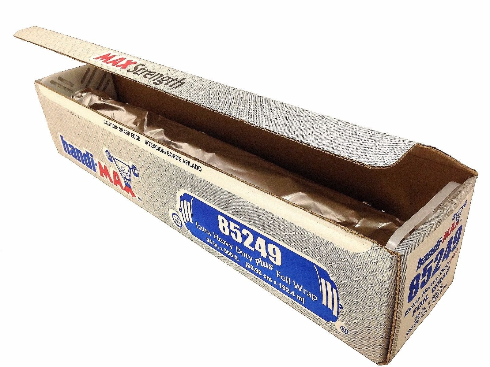 Handi-foil of America Handi-Max 24'' x 500' Extra Heavy Duty Aluminum Foil Grill Food Service Wrap (Pack of 1 Roll) by Handi-Foil